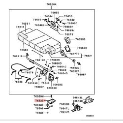 Cache Plastique de la fixation au plancher des rangés de sièges Pajero 3
