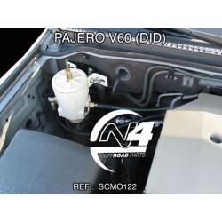 Kit complet montage pré-filtre Racor série 500 Pajero DID 1 batteries