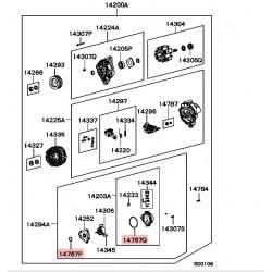 Petit Joint Torique de Pompe à vide Pajero 1 2,5L TD et TDI, L200 1