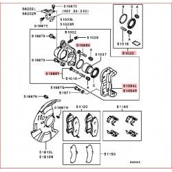 Support d'étrier de frein Avant Gauche L200 K74