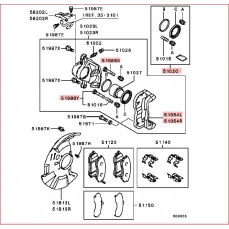 Mitsubishi L200 Suspension