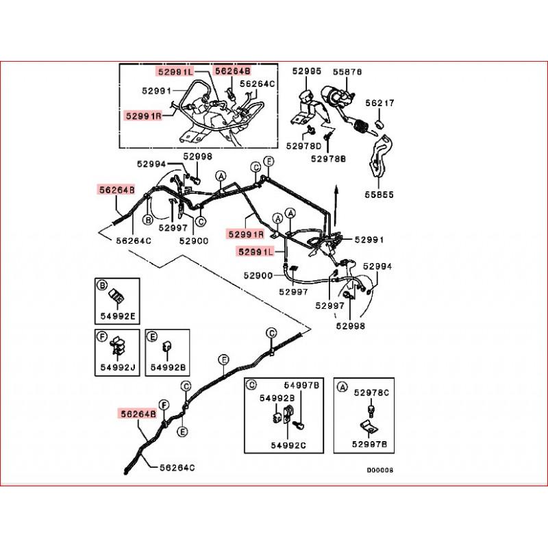 durites de frein acier entre r partiteur et durite souple arri re gauche pajero iii court. Black Bedroom Furniture Sets. Home Design Ideas