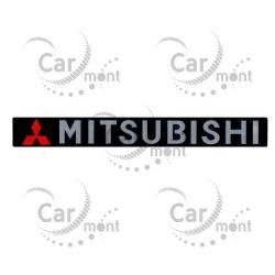 Logo MITSUBISHI Chromé autocollant sur la poignée de porte Arrière Pajero 2