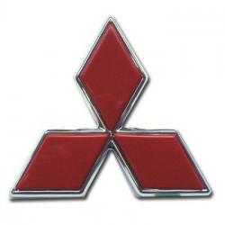 Logo 3 Diamant rouge porte Arrière Pajero 3