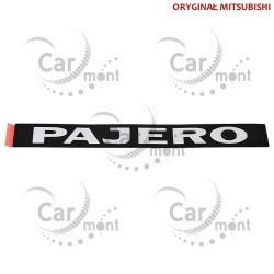 Logo PAJERO Chromé autocollant sur la poignée de porte Arrière Pajero 3