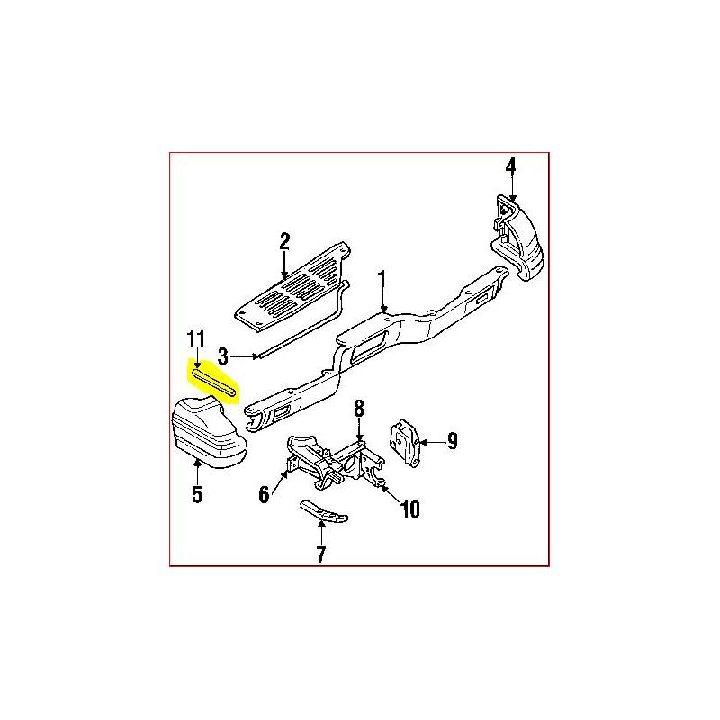 protection sous crosse de pare choc arri re droit ou gauche pajero 2. Black Bedroom Furniture Sets. Home Design Ideas