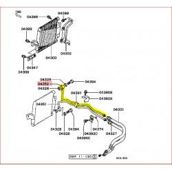 Durite Rigide Supérieur du Radiateur d'Huile Moteur Pajero II 2,5L TDI