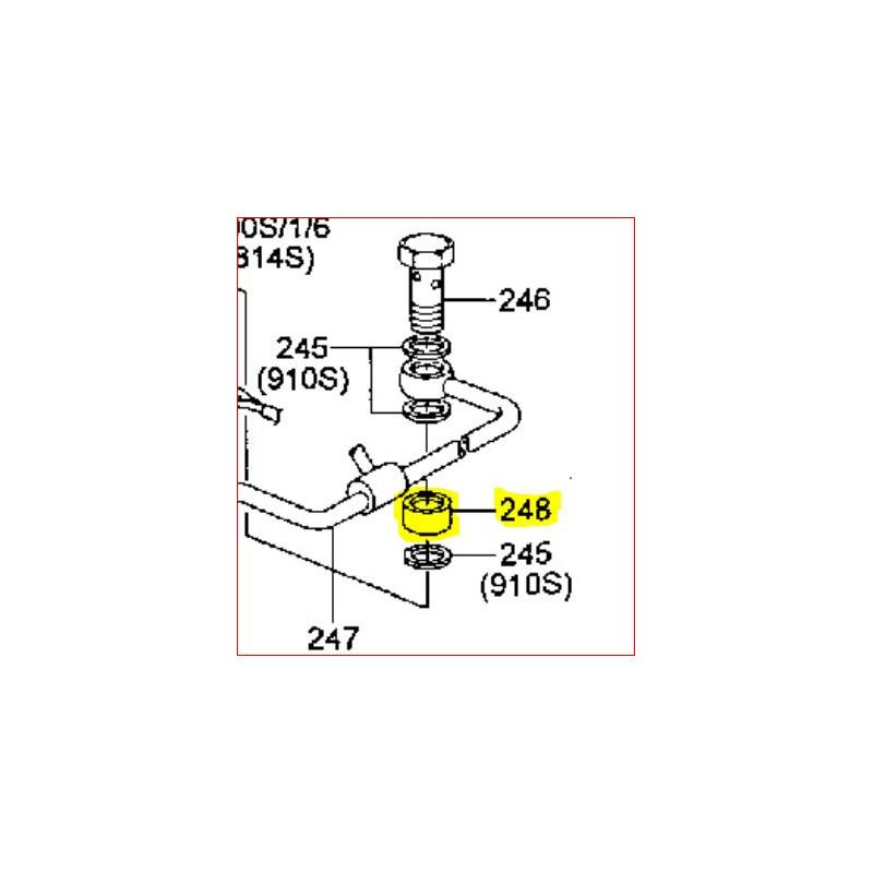 entretoise sur la pompe d 39 injection du pajero 2 8l tdi. Black Bedroom Furniture Sets. Home Design Ideas
