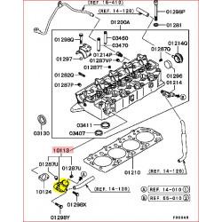 Pipe de Refroidissement d'Origine sur la Culasse Pajero 2 et 3 2,5L TDI