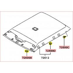 Attache Clip de la Garniture Intérieur de Toit ou Ciel de Toit L200