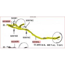 Câble de Frein à Main Droit ou Gauche Pajero 1 Court 2,5L TD MB140463 MB140462