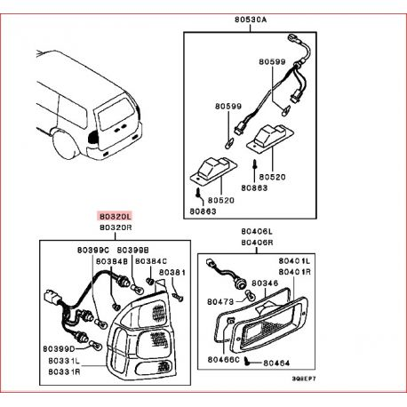 wiring diagram for mitsubishi l300 with 744 Feux Arriere Droit D Origine Pajero Sport on Index besides Subaru Impreza Car Wiring Diagram And Harness likewise Watch further 2001 Saturn Sl1 Radio Wiring Diagram moreover Suzuki Ignition Switch Diagram.