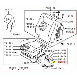 Bouton de l'Interrupteur de Réglage du Siège Électrique Pajero 3