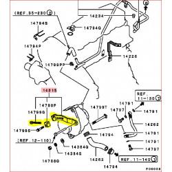 Glissière de Réglage d'Alternateur Complète d'Origine Pajero II 2,5L TDI Court Avant 09/1993