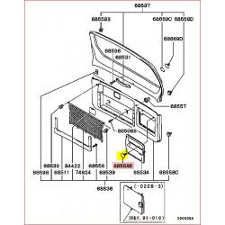 1 Attache de la Garniture dans le Bas de Porte Arrière Pajero 3