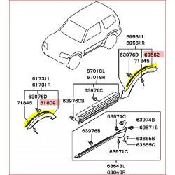 Joint Anthracite Entre la Carrosserie et l'Elargisseur d'Aile Avant ou Arrière Pajero 3