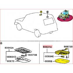 Plafonnier d'Intérieur Gris Pajero 1 L042, L043, L047 et L048