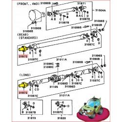 Tête de Cardan d'Arbre de Transmission Arrière L200 K34
