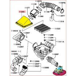 Couvercle de Boite à Air d'Origine Pajero 2 V6 3,0L et 3,5L