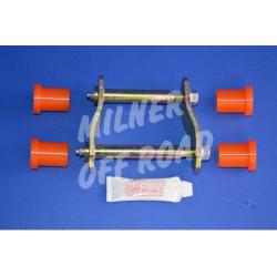 Jumelle des Lames de Suspension + Silentbloc Polyuréthane Adaptable L200 K74