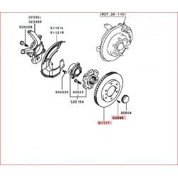 Vis cruciforme tête fraisée de positionnement du disque